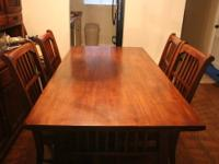 Beautiful, Solid Wood, Butcher Block, Dining Room Table