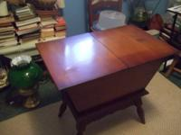 This is a beautiful solid wood dough style table. It
