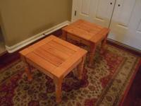 This is a pair of very nice wood end tables, they are