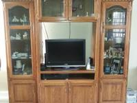 Excellent condition. 3 piece Solid wood Entertainment