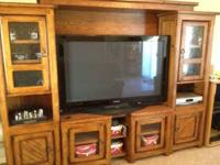 VERY nice solid wood 4 pc unit Bought from Neb