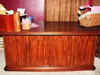 Solid wood (no particle board) executive desk. Measures