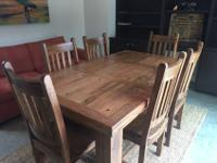 Beautiful solid wood farmer's table for sale. Slightly