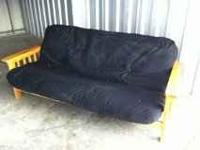 FOR SALE SOLID WOOD FUTON W/ FULL SIZE