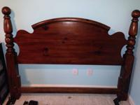 Solid wood headboard.  Queen size excellent condition