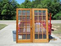 For sale! Solid Wood Interior French Door with mounting