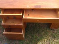 I HAVE A KIDS SOLID WOODEN DESK W/ 4 DRAWERS WILL NEED