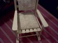 PAINTED CREAM COLOR ALSO HAS HAND MAID SEAT AN BACK