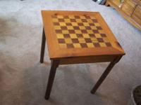 Solid wood center island/cutting board with 2 shelves