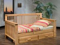 Twin Natural Finish Wooden Day Bed with drawers Special