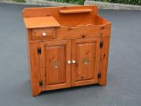 SOLID PINE WOOD DRY SINK STORAGE CABINET Approximate