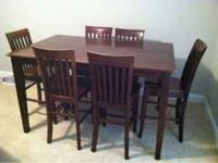 Very nice pub table, 6 chairs and buffet for sale... 5