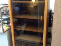 Classic solid timber stereo display curio cabinet with