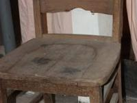 Wood Chair. Needs refinished but is very solid and at