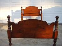 This is a solid wood headboard, footboard and rails.
