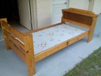 Really nice thick knotty wood bed with platform in