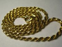 I have ONE 18K Italian yellow gold rope necklace that I