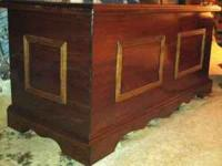 Hand crafted!!! Solid walnut with cedar bottom blanket
