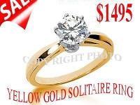 WE OFFER YOU SOLITAIRE ENGAGEMENT RING. IN14KT GOLD