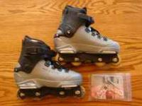 This is a pair of Solomon ST80 inline skates. Size in 8