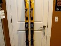 Excellent quality skis! They are yellow (size) 195.