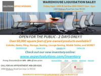 Solutions Office Interiors is having a Liquidation Sale