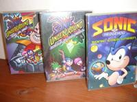 Sonic cartoons on DVDs. I am selling 8 Sonic cartoons