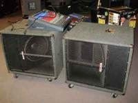 These are a pair of Sonic D115 subwoofers that are JBL