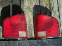 This is a set of used taillights from a 1999 Chevrolet