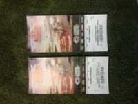 I have two tickets to the Sonoma SaveMart 500 on