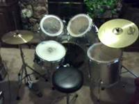 This is a complete Sonor drum set with a few other