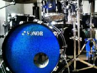 Is a 6 pc. (8,10, 12, 14 mounted toms, 14 snare and 22