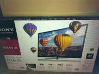 Sony, Bravia 3-D NX 8-55 inch TV like new, 3 months