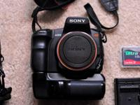 Up for sale is an Alpha Sony A200 DSLR with so many