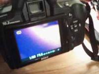 Sony a330 dig. Camera, 10.2 mega pixels, flip screen,