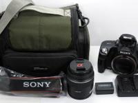 Up for sale is a very light used Sony DSLR digital