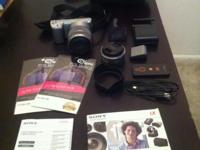 Sony digital camera in a great condition. It comes with