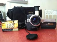 Camcorder comes with battery, charger, brand new tape,