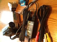 Palm-sized Camcorder, 2 batteries, bag, all cables and