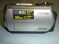 Sony DCR-SR42 HDD Video Camera $350 30 GB hard disc