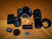 Selling a Super Nice Sony A330 DSLR Camera with 2