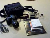 A very well taken care of Sony A350 digital camera with