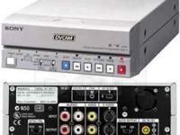 The Sony DSR-11 DVCAM player/recorder can be easily