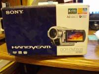 UP FOR SALE IS A BARLEY USED SONY HANDYCAM MODEL