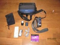 Sony DVD Handycam Camcorder video camera. Comes with