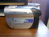 Sony Handycam DCR-DVD with tripod for sale. Like new.