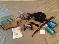 This Sony Handycam package includes the original box,