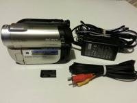 Selling this Sony DVD camcorder hardly ever used and