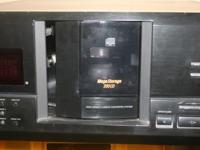 thie is a 200 mega storage cd player. it was used very
