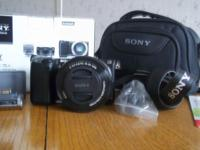 Sony NEX-5T Digital Camera., one touch sharing, power